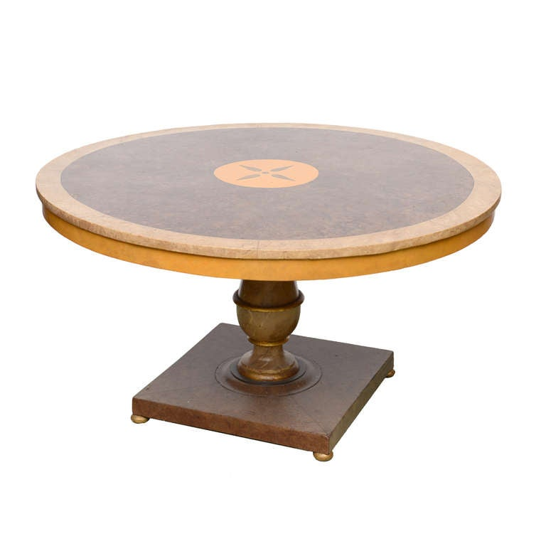 Dining Table Furniture Center Pedestal