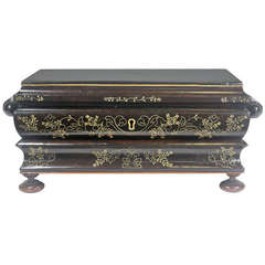 Regency Period Rosewood Anglo Indian Fitted Sewing Box with Provenance