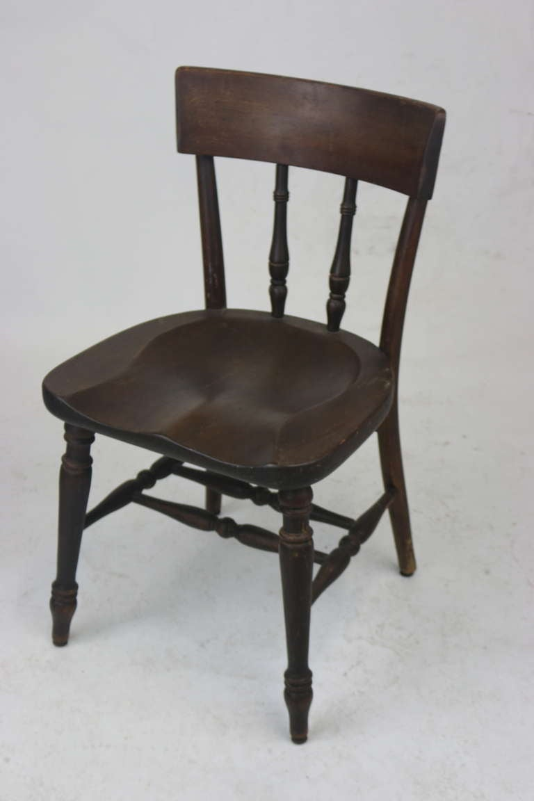 Set Of Five Original Early Thonet Windsor Captain S Chairs With Labels For Sale At 1stdibs