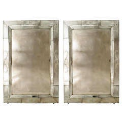 Modern Seguso Etched Glass Wall Mirrors