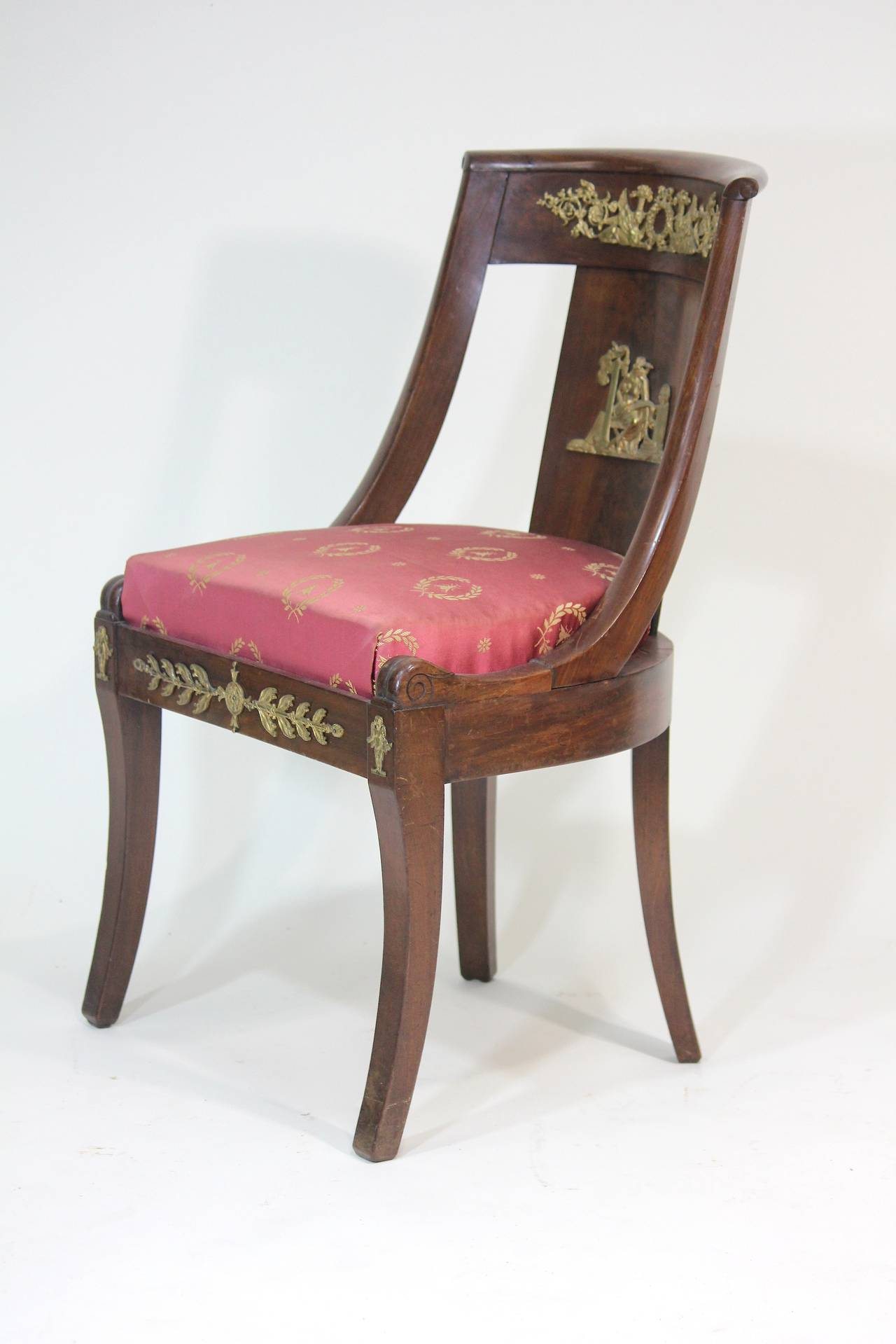 Etonnant Gilt Period French Empire Chairs Circa 1825 With Bonaparte Provenance For  Sale