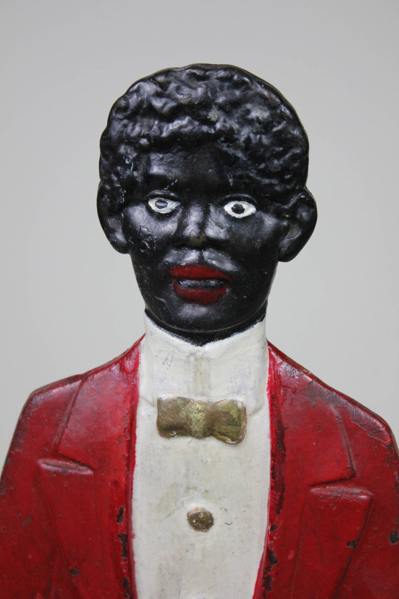 Folk Art Black Americana Butler Smoking Stand, circa 1900 In Good Condition For Sale In West Palm Beach, FL