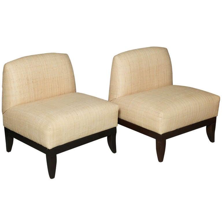 Designer raffia upholstered mid century modern lounge for Mid century modern upholstered chair