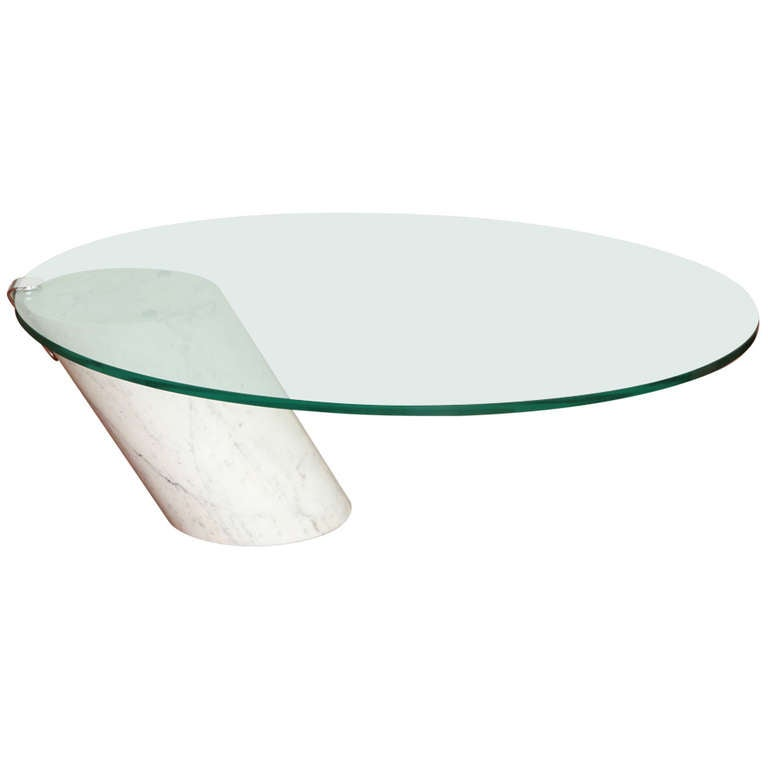 Chic Modernist Pace Marble Glass Cocktail Table