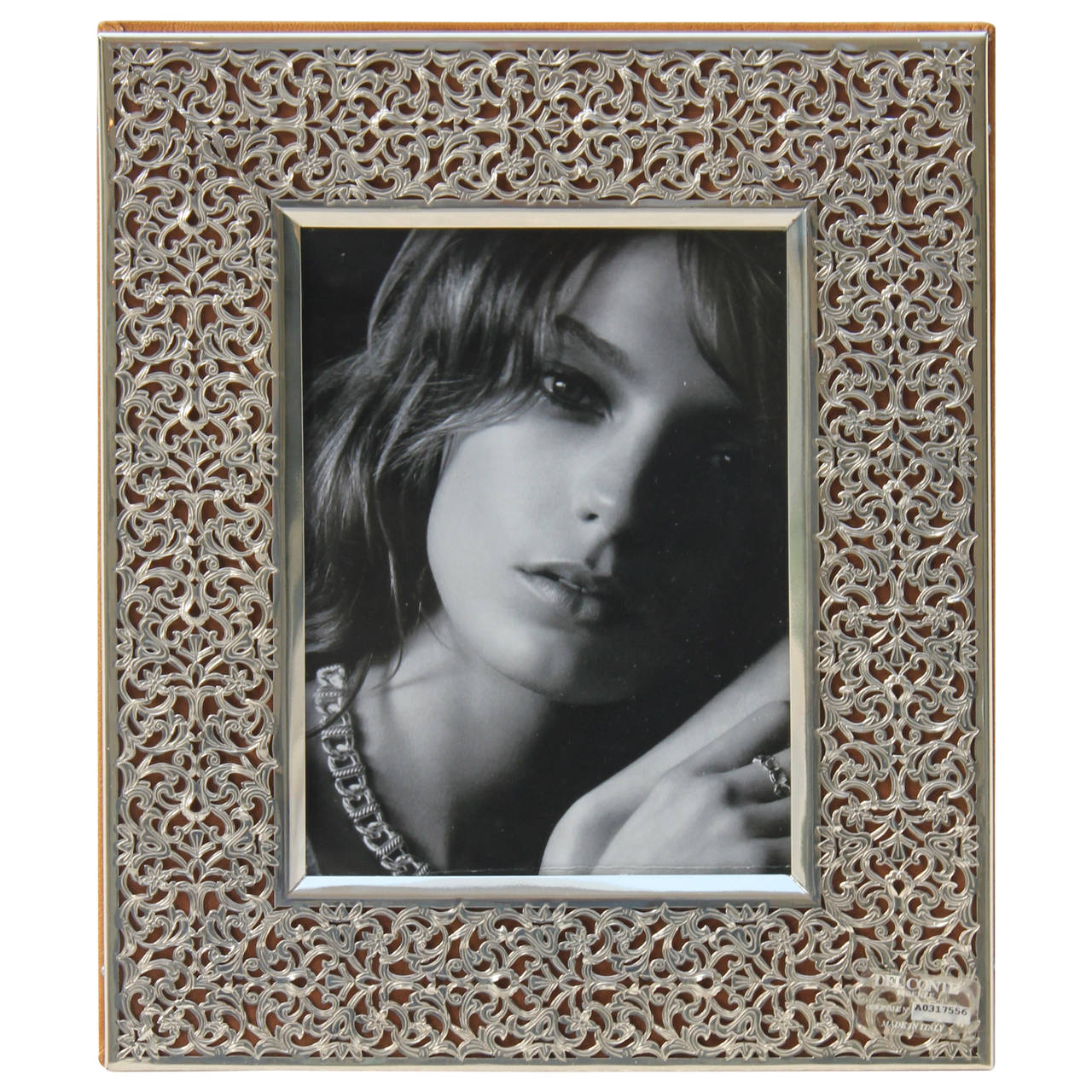 Exquisite Sterling Filigree and Lambskin Textured Leather Photo ...