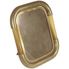 1950s Italian Tomasso Barbi Art Glass Photo Frame or Mirror with Provenance