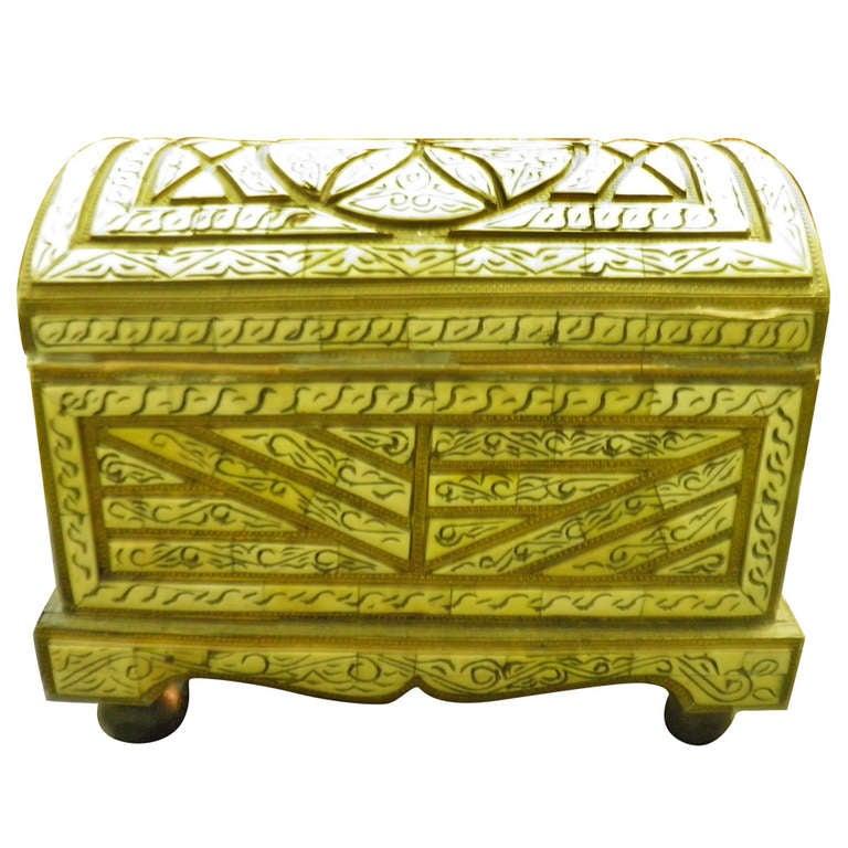 Decorative Bone Boxes : Highly decorative exotic moroccan berber tribe camel bone