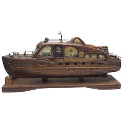 "19th Century Wood Boat Model ""Miss C.B. Fuller"" of Maine"