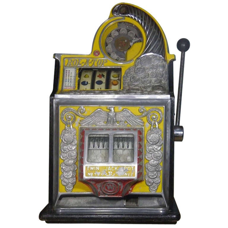 Antique Slot Machine Watling Coin Front Rol A Top With