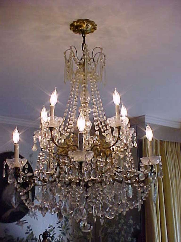 Lustrous 19th century ten light large french louis xv multi crystal grand doyenne decorator sister parish decorated the harkness estate mansion and selected the marvelous crystal chandelier aloadofball Gallery