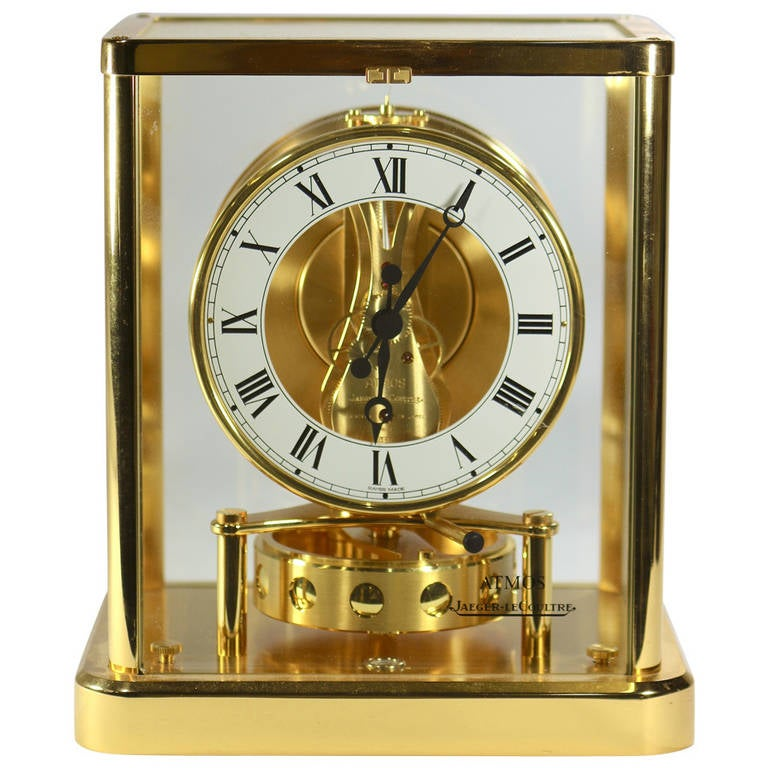 Vintage Jaeger Lecoultre Gold Plated Atmos Clock With