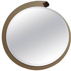 Vintage Chic Designer Crackle Finish Revolving Mirror
