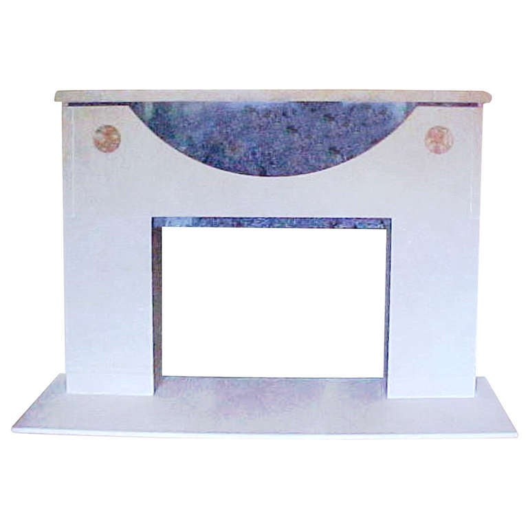 Ronn Jaffe's 'Onassis' Luxe Marble Fireplace Mantel For Sale
