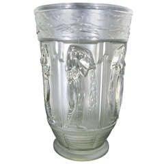 """1930  Art Deco """"Danaides"""" Vase Lalique Style"""