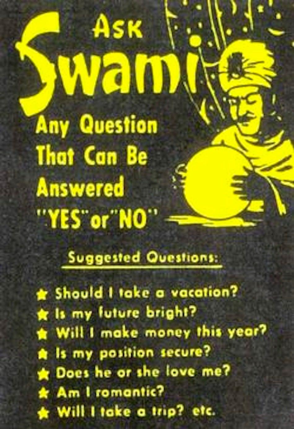 Vintage 1 Cent Quot Ask Swami Quot Pair Chrome Countertop Fortune