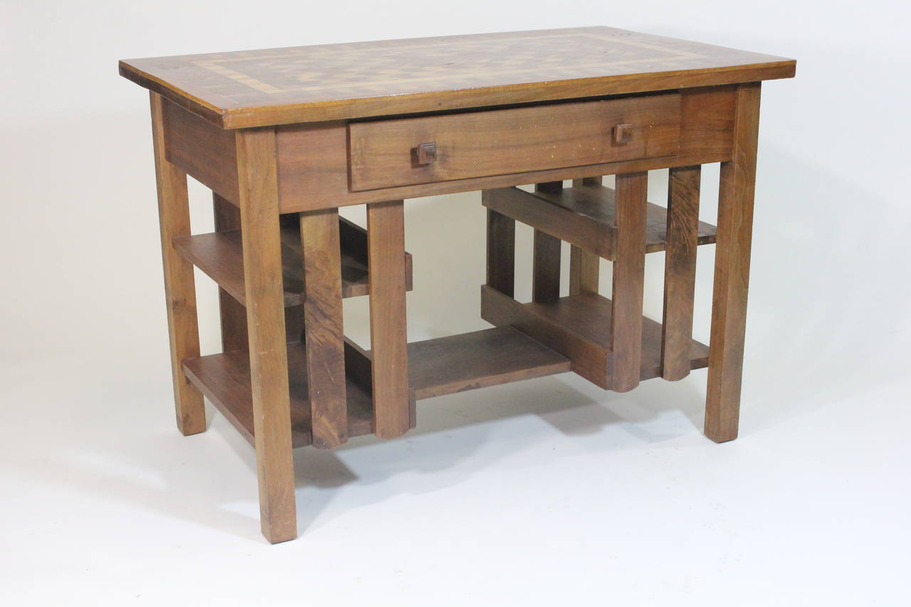 Mission Writing Desk ~ Early th c arts and crafts stickley mission style desk