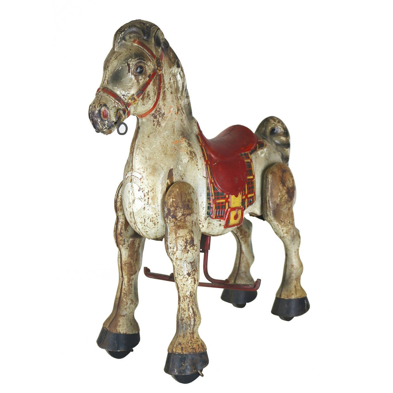 Vintage English Folk Art Child's Toy Riding Horse Great for Display