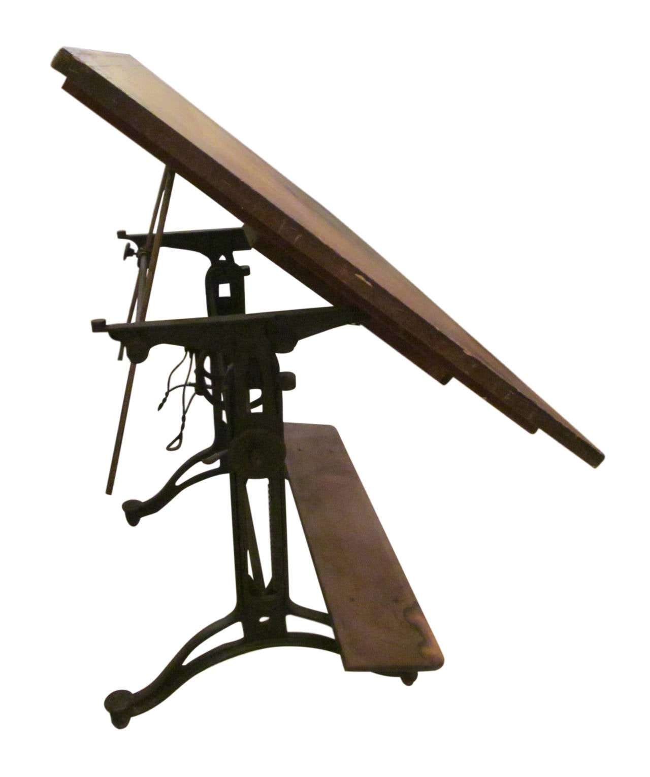 Adjustable Drafting Table With Drawer Wheels And Built In