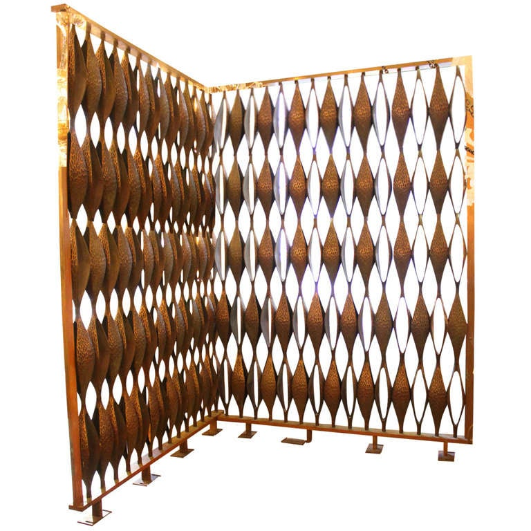 1964 solid cast bronze mid century modern large scale room for Mid century modern furniture new york