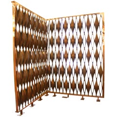 Solid Cast Bronze Large Scale Room Divider from Syracuse, NY 1964