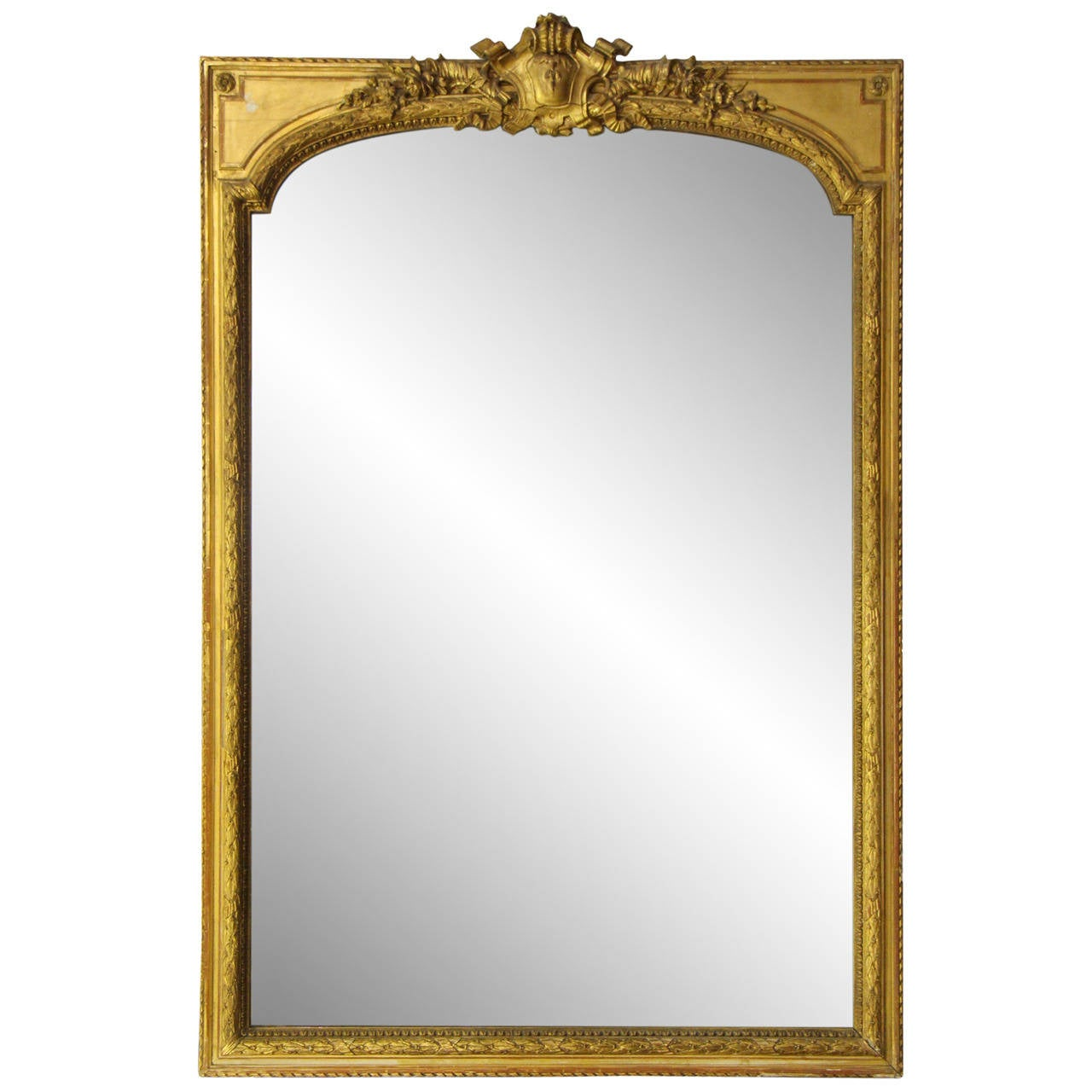 Arched gilt mirror at 1stdibs - Late 1800s French Gold Gilt Ornate Mirror 1