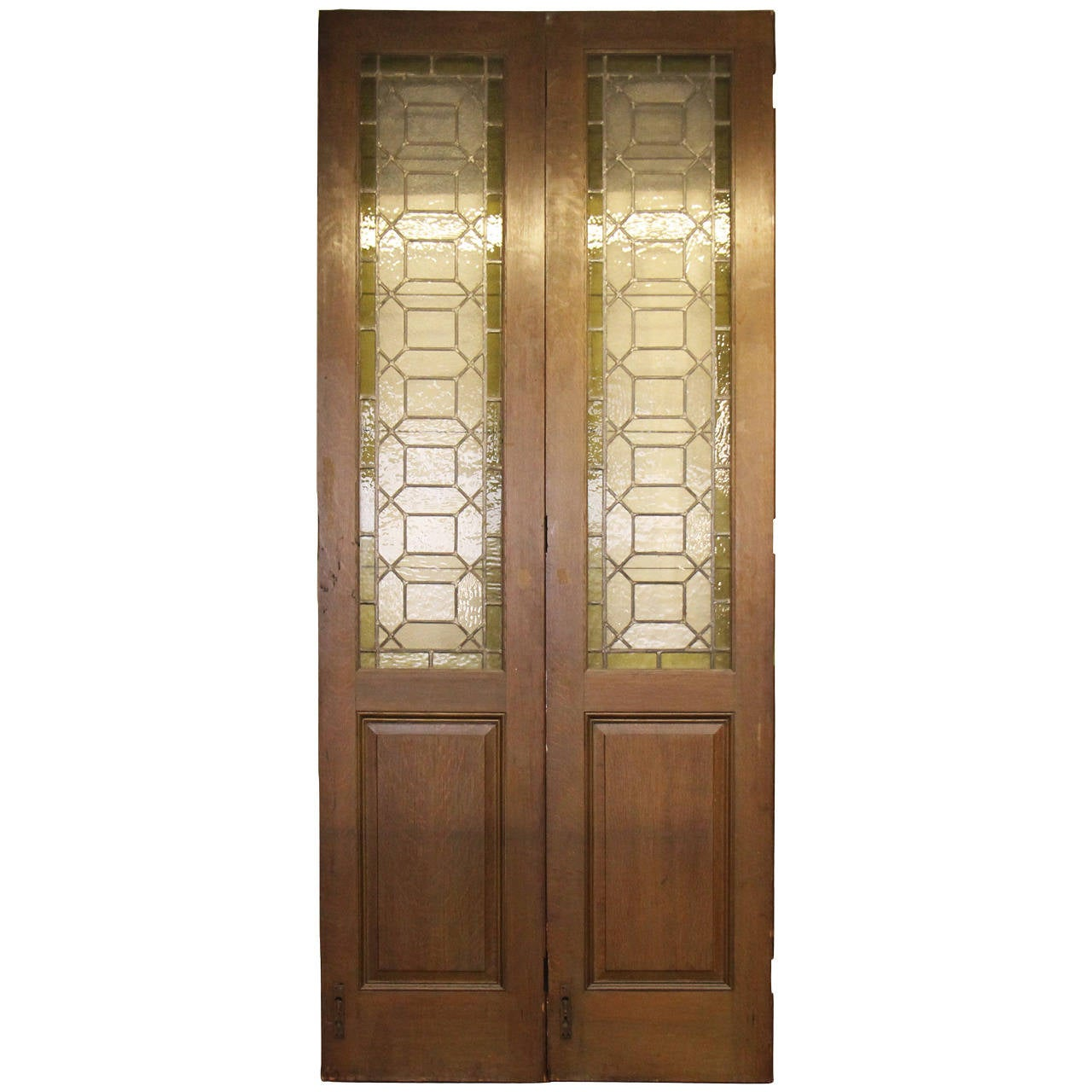 1907 Bifold Stained Glass Doors From Madison Avenue