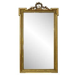 1930s Ornate French Mirror Made from Carved Wood and Plaster