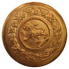 Ornate Bronze Standing Lion Door Knob