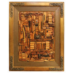 Artwork by Joseph Carmass; Wood and Metal Pieces Matted and Framed