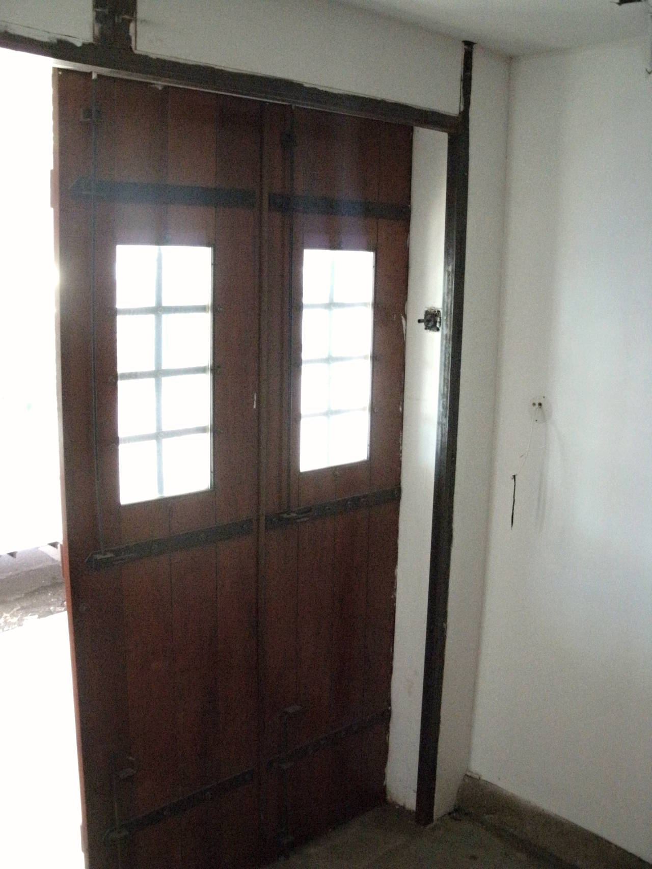 1980s Huge Pair Of Carriage House Doors With Cast Iron