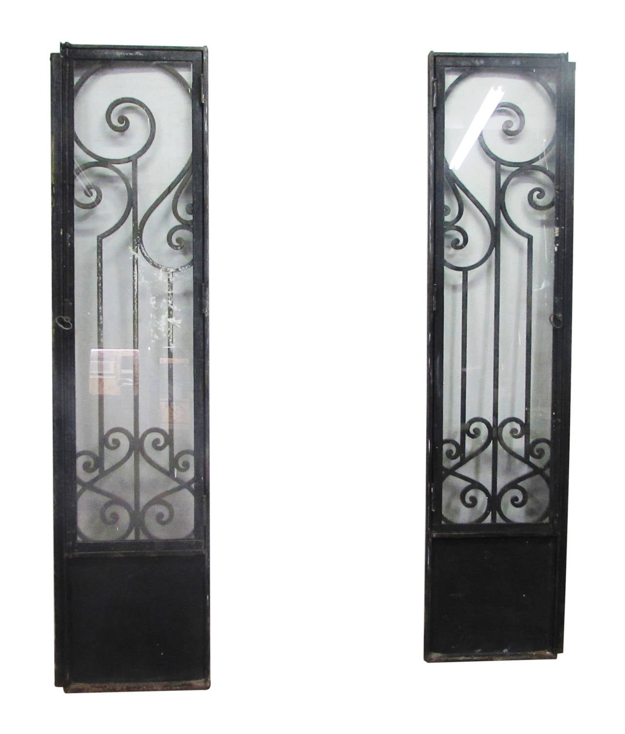 1503 #594E4A  Nouveau Brownstone Iron Door Set With Matching Sidelights At 1stdibs pic Metal Entry Doors With Sidelights 39211280