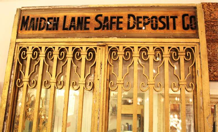 Steel Safe Deposit Doors From Lower Manhattan For Sale At