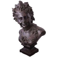 19th Century Victorian Iron Bust