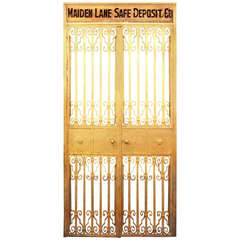 Steel Safe Deposit Doors from Lower Manhattan