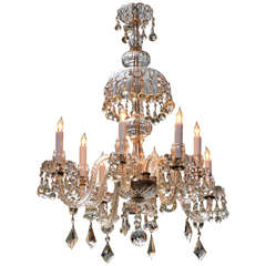 Eight light Waterford crystal chandelier