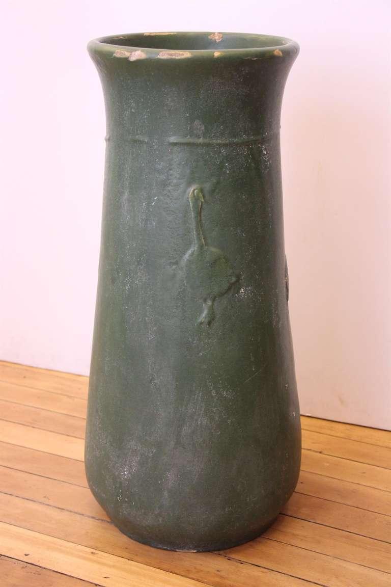 Rookwood Green Vase At 1stdibs