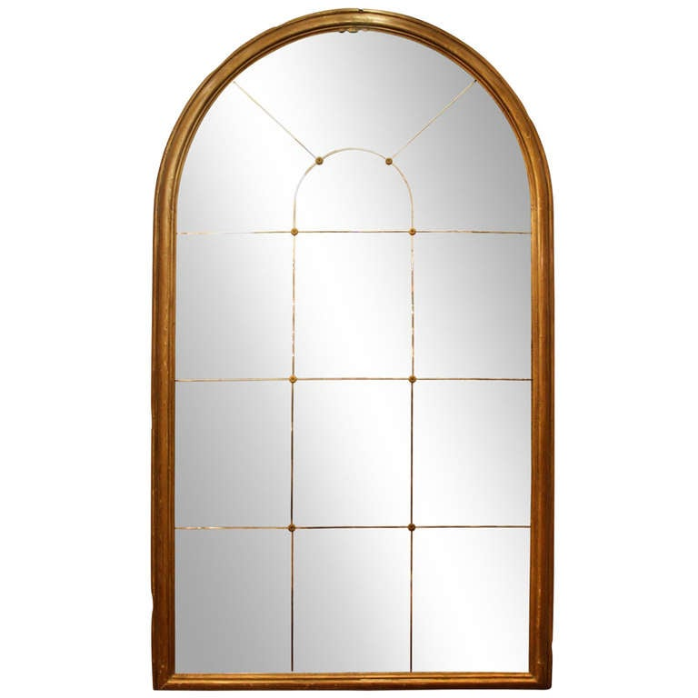 Large Antique Arched Mirror From A New York City Residence