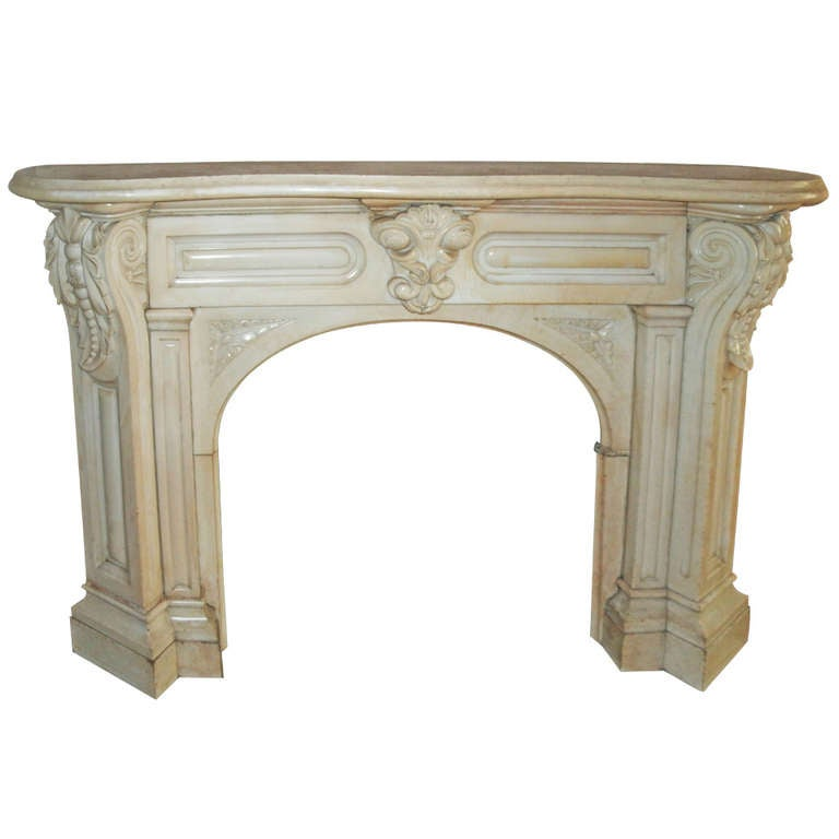 carved white victorian corbel arched mantel from east 10th