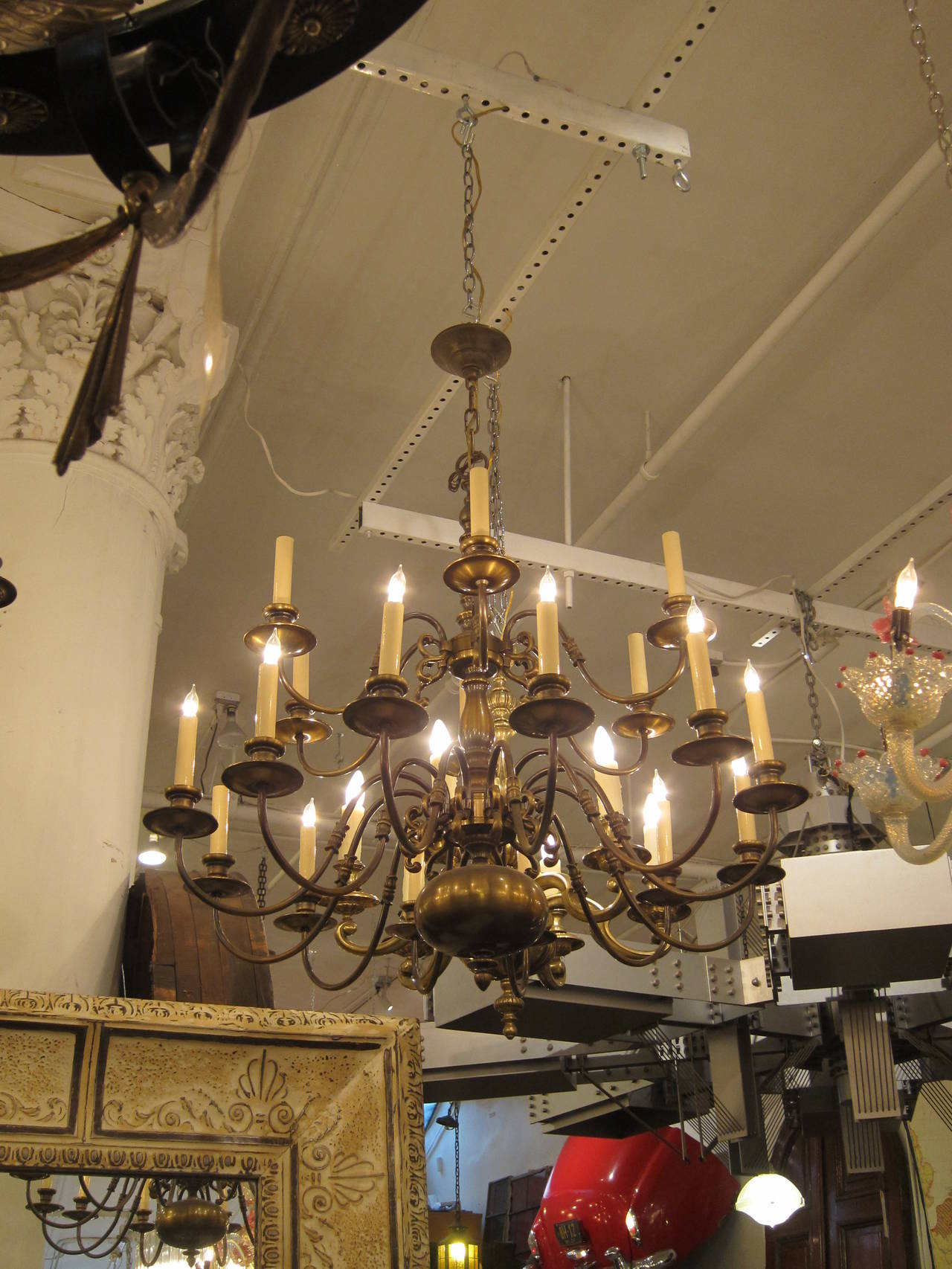 1950s colonial style oil rubbed bronze two tier chandelier for sale colonial style two tier chandelier american made in the 1950s shown in a arubaitofo Image collections