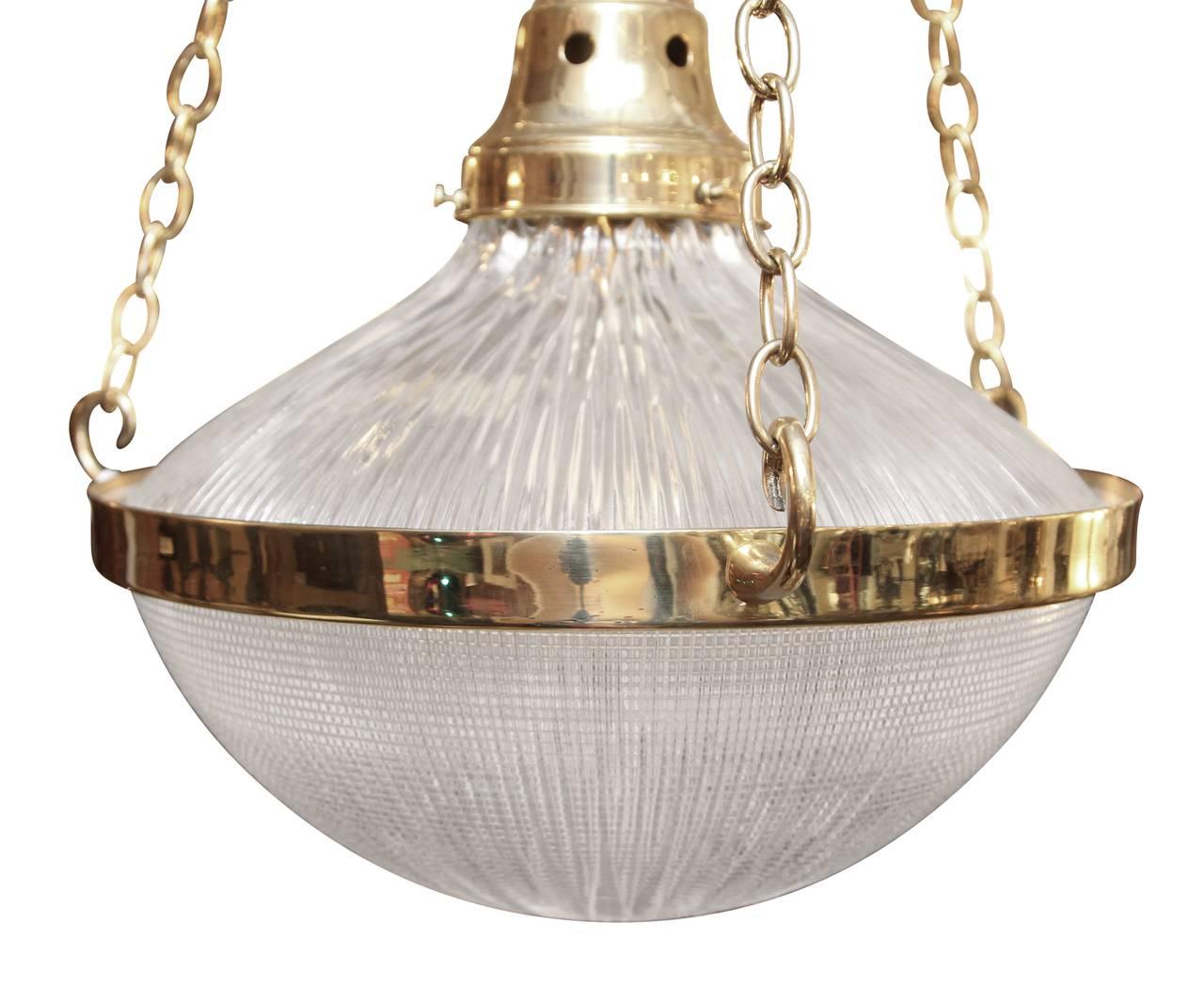 1950s english mid century modern holophane glass pendant. Black Bedroom Furniture Sets. Home Design Ideas