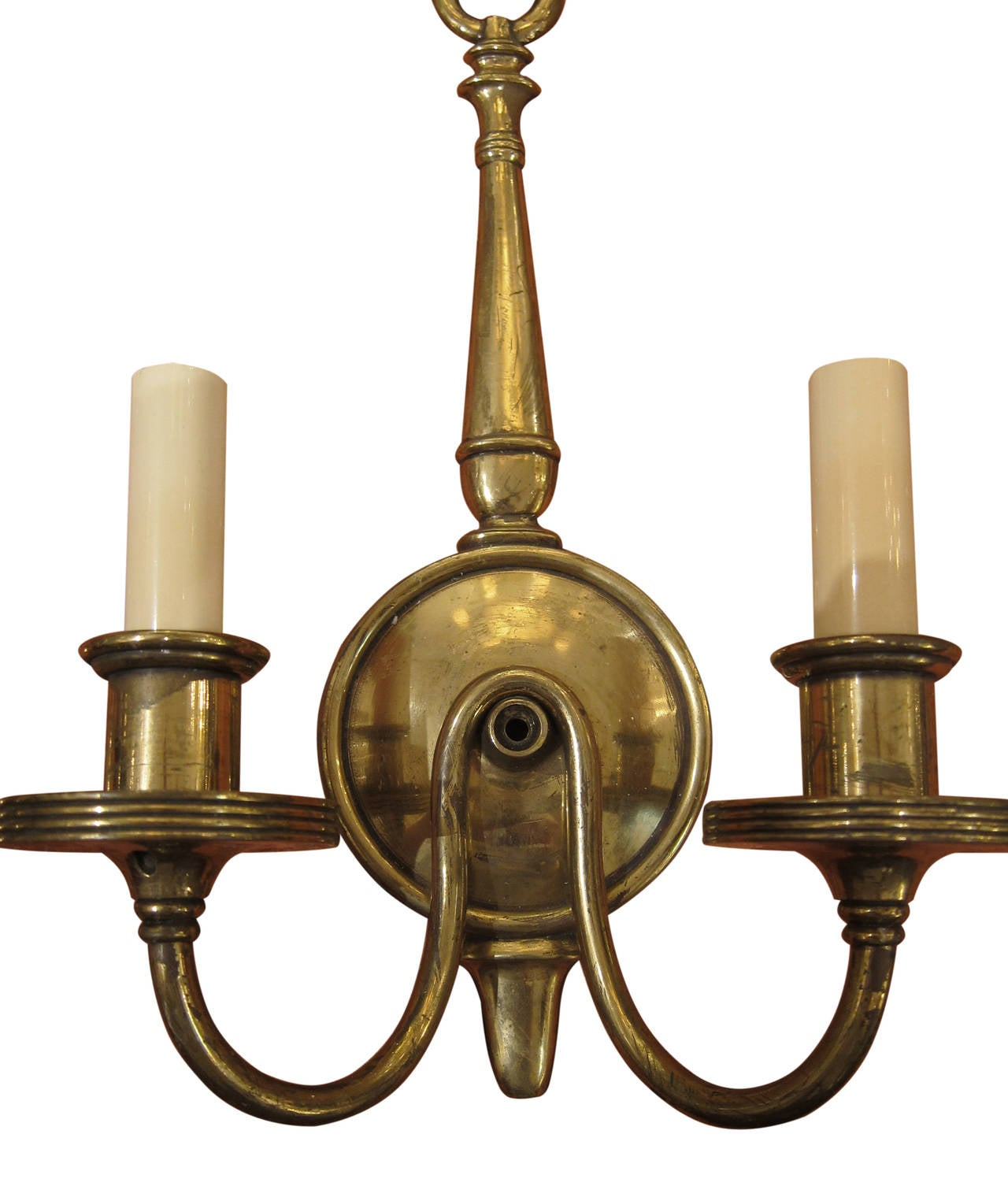 1920s Pair of American Made Colonial Style Sconces at 1stdibs