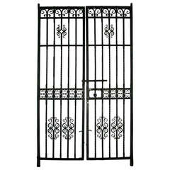 Early 1900s Pair of Wrought Iron Entry Gates signed by Samuel Yellin