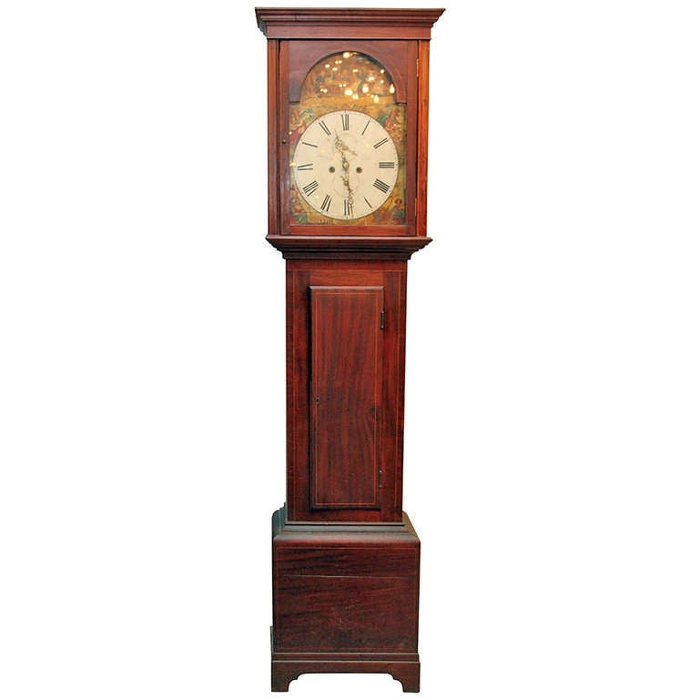 1800s scottish grandfather clock at 1stdibs - Wall hanging grandfather clock ...