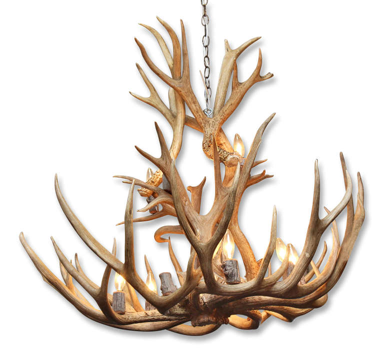 Large Two Tier Antler Chandelier At 1stdibs