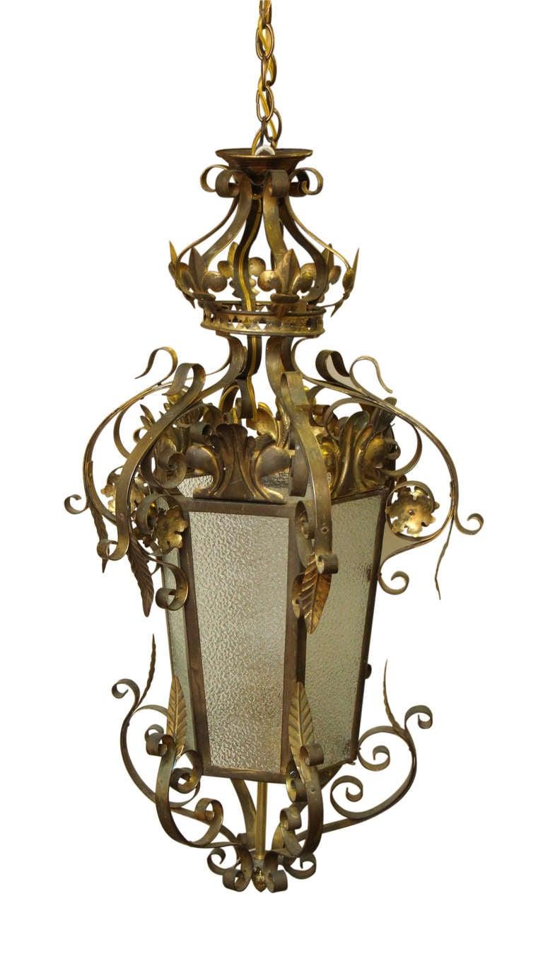 wrought iron vestibule pendant light for sale at 1stdibs