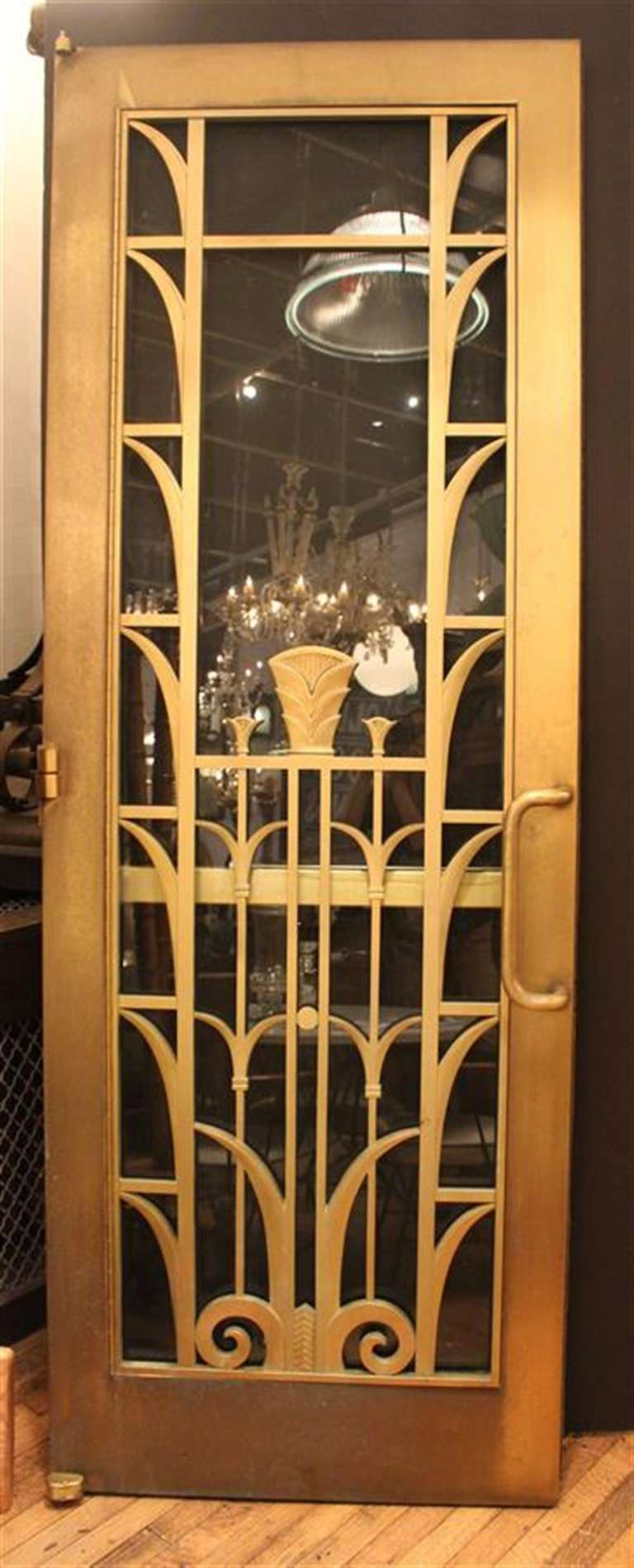 Art Deco Brass Double Door Set From A Manhattan University