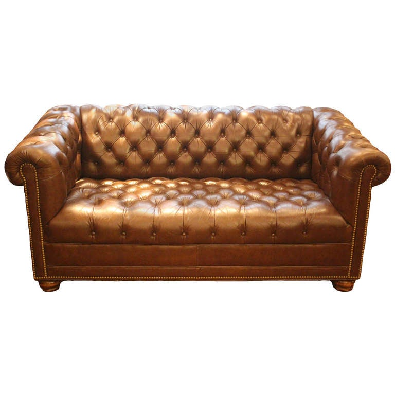Brown Leather Chesterfield Sofa Brown Leather Chesterfield Sofa Baker, St Ives Brown Leather