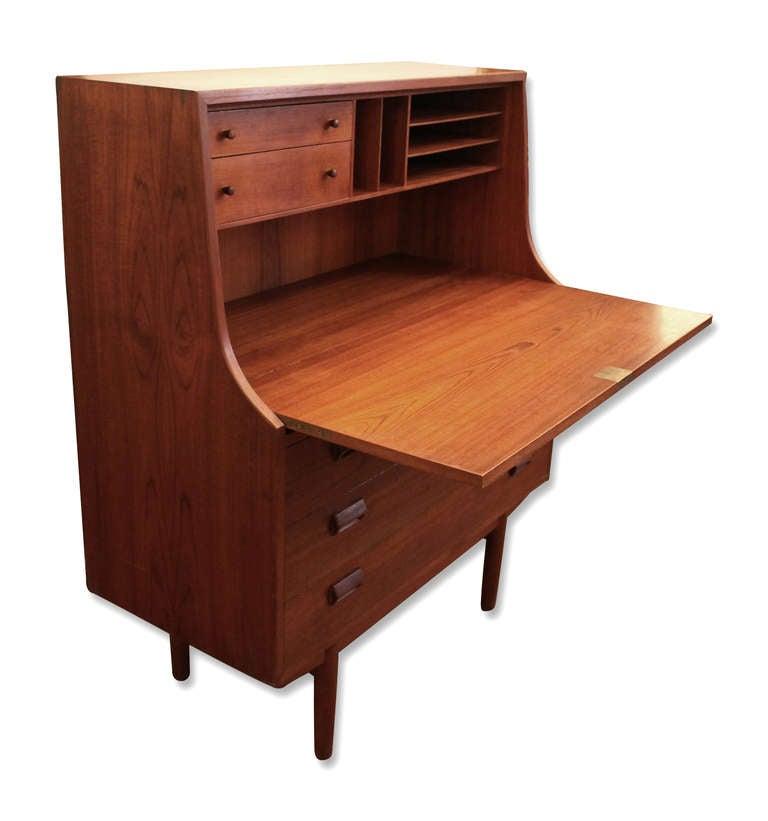 Mid Century Modern Danish Drop Down Desk Dresser