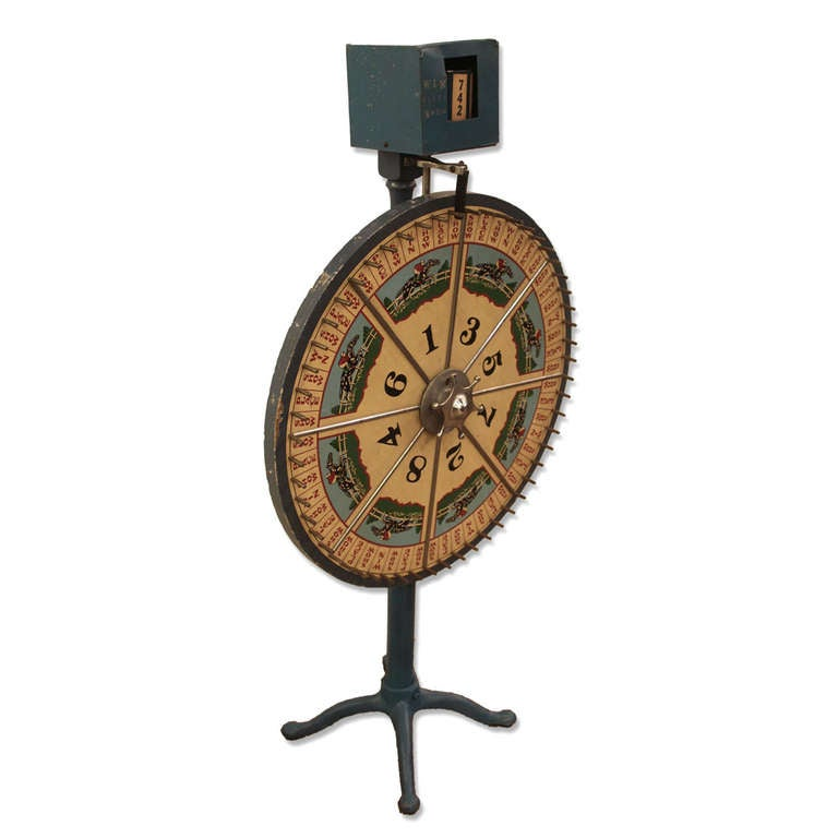 vintage roulette wheel with counter at 1stdibs. Black Bedroom Furniture Sets. Home Design Ideas