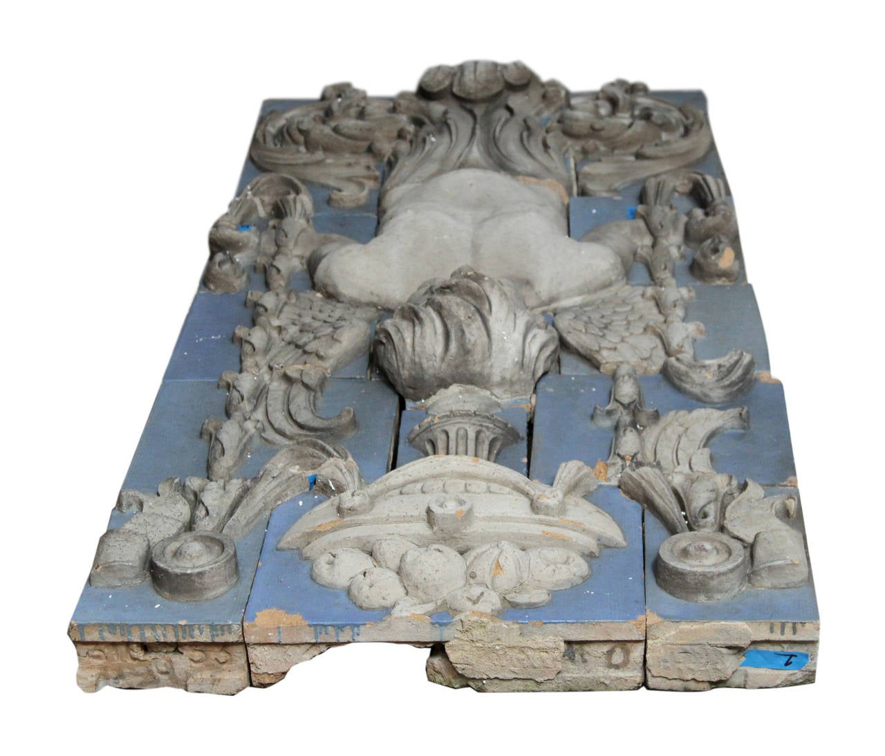 1918 Polychrome Terracotta Cherub Frieze from the Southern Hotel in Baltimore For Sale 1